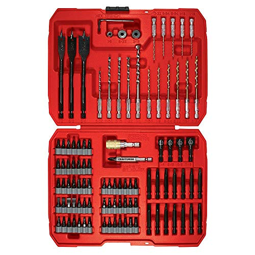 Craftsman 9–Juego de 100PC Speedlock para taladro para puntas de cambio rápido 47625