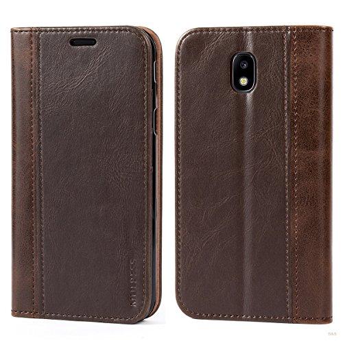 Mulbess Funda Samsung Galaxy J5 2017 [Libro Caso Cubierta] Billetera Cuero de la PU Carcasa para Samsung Galaxy J5 2017 / J5 Duos 2017 Case, Vintage Marrón