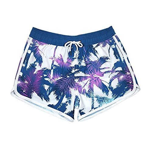 N\P Pantalones Cortos de la Playa de Las Mujeres Secado rápido Suelto Natación de Surf Comtable
