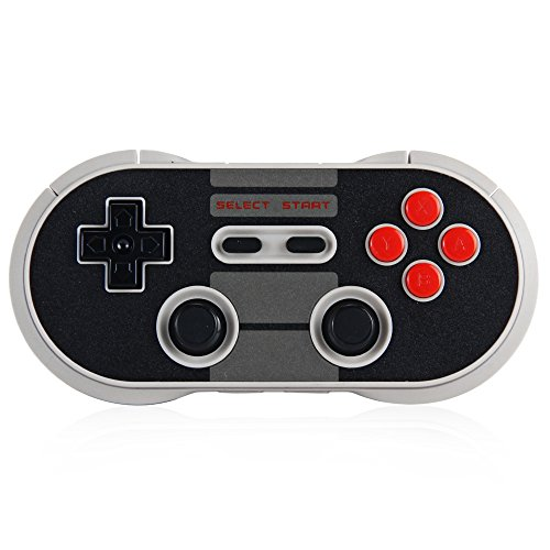 8Bitdo N30 Pro Wireless Bluetooth Controller Dual Classic Joystick for iOS Android Gamepad PC Mac Linux(Black)