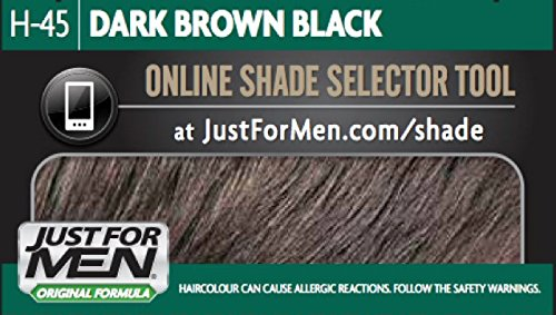 Just for Men Hair Dye, Original Formula Hair Colour H45 – Dark Brown Black