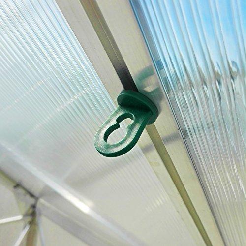 60x Gewächshausclips - Stabile Pflanzenhalter Aufhängevorrichtungen Ösen für Gewächshaus, Perfekte Rankhilfe Clips für ihr Paradies