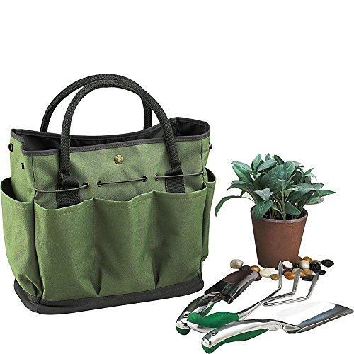 Borsa da giardino, giardinaggio Tool kit Storage Holder Oxford bag Home organizer con 8tasca–verde scuro