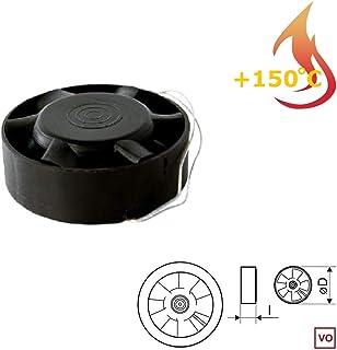 Ventilador Extractor Industrial en línea para conductos Circulares de Alta Temperatura 150°C MMotors JSC VO90 [90 mm] Rodamiento Bolas NSK Japón Larga Vida hasta 30.000 Horas IN-Line Barbacoa