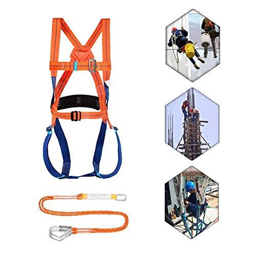 JIAWYJ XIAOJUAN Ganzkörperhöhe Luftaufnahme Fallenschutz Verstellbarer Gürtel mit Haken, Ganzkörper-Sicherheitsgurt Verstellbarer Gürtel (Color : Orange B, Size : 1.8m)