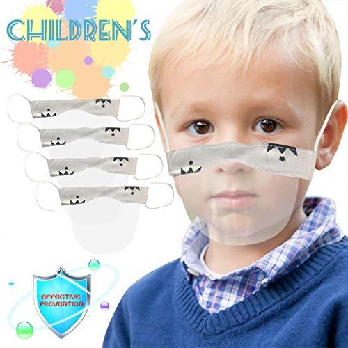 eiuEQIU Visier Gesichtsschutz aus Kunststoff - Jungen Mädchen-Universales Gesichtsvisier für Kinder Safety Gesichtsschutzschild Visier zum Schutz vor Flüssigkeiten (4pc)