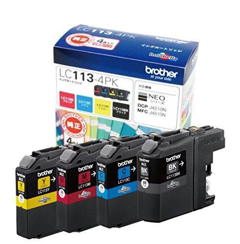 ブラザー工業 【brother純正】インクカートリッジ4色パック LC113-4PK 対応型番:MFC-J6975CDW、MFC-J6973CDW、MFC-J6770CDW、MFC-J6573CDW 他