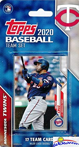 Minnesota Twins 2020 Topps Baseball EXCLUSIVE Special Limited Edition 17 Card Complete Factory Sealed Team Set with Jose Berrios,Miguel Sano,Nelson Cruz & Many More Stars & Rookies! WOWZZER!