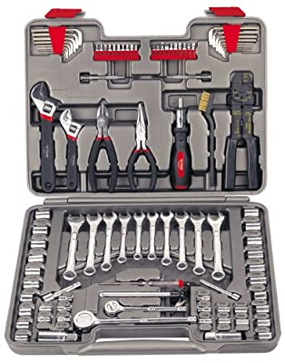 APOLLO TOOLS 95 Piece Mechanics Tool Set with SAE and Metric Socket Sets and Mechanic Tools Needed for Boats, Bikes, Car Maintenance - DT1241 from Apollo