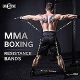 HORKEY MMA Boxing Training Resistance Belt Band Set Power Punch Pro Equipo de Entrenamiento de Fuerza para Muay Thai, Karate Combat, Fitness, Baloncesto para Hombres y Mujeres (225LB Camo Army Green)