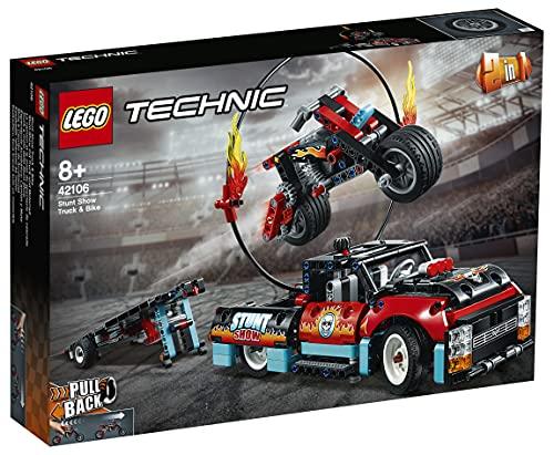 LEGO42106TechnicEspectáculoAcrobático:CamiónyMotoJuguetedeConstrucci...