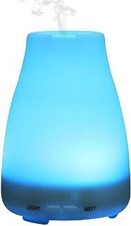 PIUPIU Bottle Night Light Essential Oil Diffuser, Air Aroma Humidifier Ultrasonic Mist Maker Fogger for Bedroom Office Car Spa Yoga,5V 100ml USB (White)