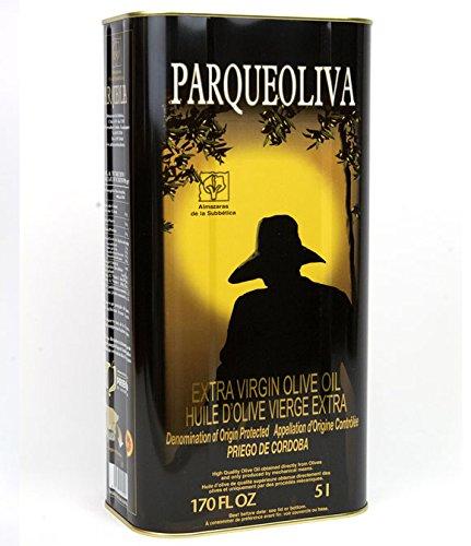 Parqueoliva bidon métal de 5 litres - Huile d'olive extra vierge Espagnol par Oliva Oliva Internet S.L.