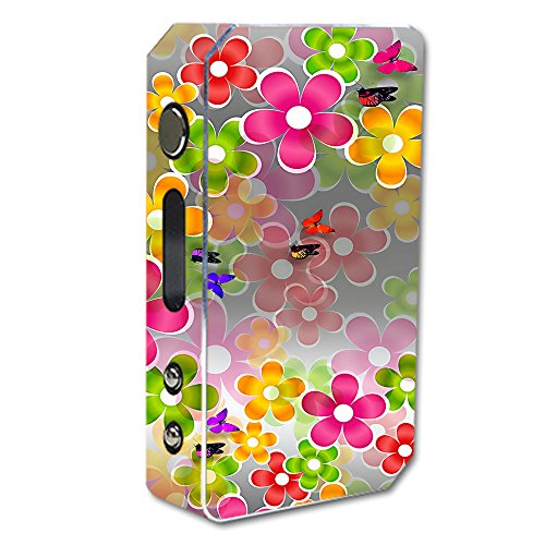 Skin Decal Vinyl Wrap for Pioneer 4 you ipv3 Li 165w Vape Mod Skins Stickers Cover / Butterflies and Daisies Flower