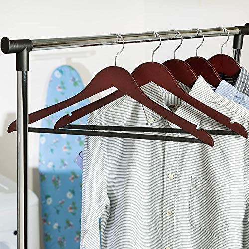 Honey-Can-Do No Slip Wooden Coat Hangers, Cherry Wood, 24-Pack