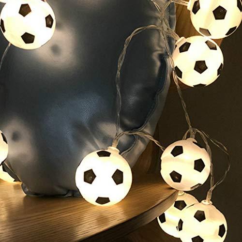 String Lights 300cm *20 LEDs Night Football String Lights Soccer Ball Light Garlands Decor Kids Bedroom Party Xmas Holiday Light