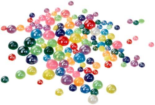 folia 1249 - Schmucksteine, Halbperlen, perlmutt, 125 Stück, Größen und Farben sortiert - ideal zum Verzieren von Grußkarten, Scrapbooking und anderen Bastelarbeiten