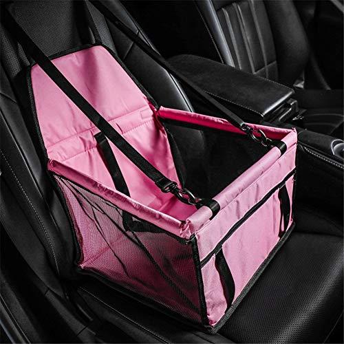 Huisdier auto kinderzitje ademend waterdicht, hond autoaccessoires reistas zitbeschermhoes, met veiligheidslijn, voor kleine honden katten puppy's roze