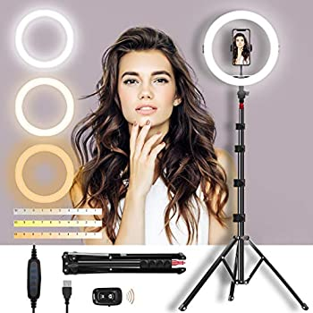 Mirocoo 11 Inch Dimmable LED Selfie Ring Light