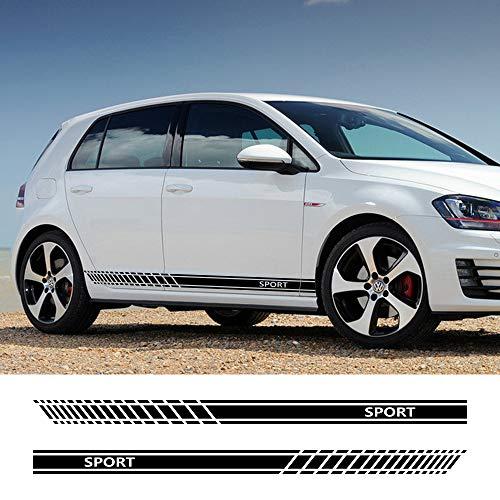 FSXTLLL Sportwagen Tür Seitenschweller Streifen Aufkleber, für Volkswagen VW Golf 7 5 4 3 6 2 1 MK7 MK5 MK2 MK6 MK4 MK1 MK3 GTI