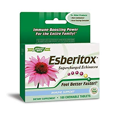 Enzymatic Therapy Esberitox Chewable Tablets, Supercharged echinacea