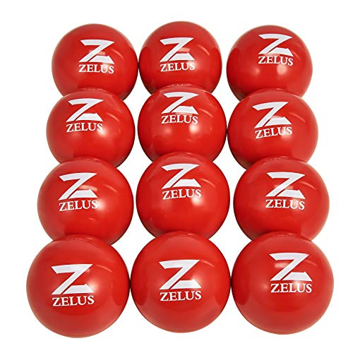 ZELUS 1-Pound Training Balls for Softball and Baseball Practice   3-Inch 1 lb Weight Ball   Weighted Ball for Exercise   Baseball Accessory for Strength Hitting Batting Pitching Improvement, Set of 12