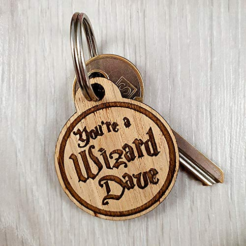 My Pretty Little Gifts PERSONALISED KeyRing You're a Wizard [NAME] Witch Wooden Key ring