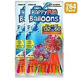 264 Paquete Globos de agua Autosellante Fácil y rápido llenado Bombas de agua Verano Splash Fun Pelea de agua Juego para niños y adultos(264 Pack 2 de bolsa)
