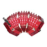 M-zutx Concertina Accordion 20 Key Anglo-Style Concerto Portable Hexagon Accordion Adult Child Junior Professional Playing Instrument Musical Festival Gift de cumpleaños (Color : Rojo)