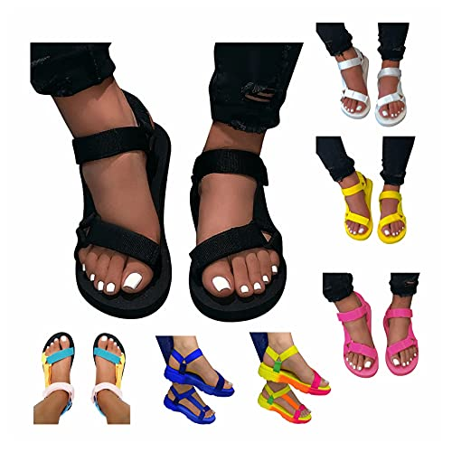 Women's Elastic Ankle Strap Low Wedges Sandals
