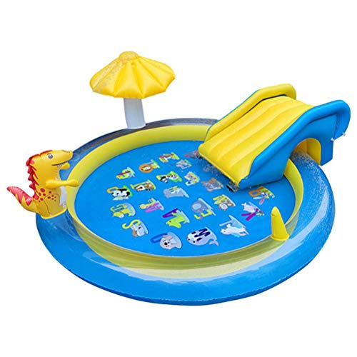 Mrisata Inflatable Swimming Pool - Inflatable Water Slide Toys Children Slide Swimming Pool Inflatable Slide Paddling Pool for Kids, Adults, Babies, Toddlers, Outdoor, Garden, Backyard