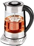 Trebs 99270 2 in 1 Wasserkocher und Teebereiter (2200 Watt, Glasgehäuse mit Temperatureinstellung,...