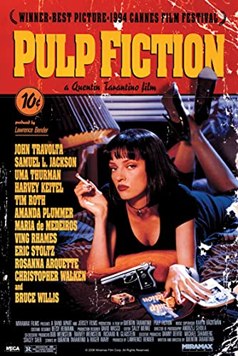 Tainsi Pulp Fiction MS-002 Poster, matt, rahmenlos, 40 x 63 cm
