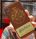 Art Design Funda para iPhone XS MAX Harry Potter Magicien Hogwarts School Marron Brown Carcasa de Moviles Caso Silicón