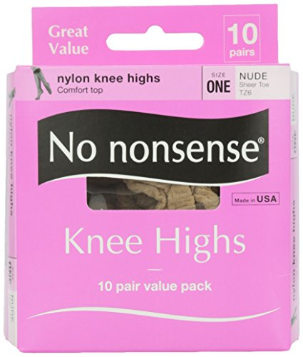 No Nonsense Knee High Value Pack, Nude Color, 10 ct