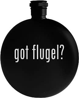 got flugel? - 5oz Round Alcohol Drinking Flask, Black