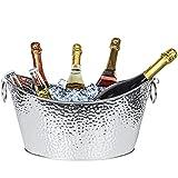 Cubitera de acero inoxidable, cubitera grande para hielo, para familias, fiestas, barbacoas, bares, clubes, 12 L