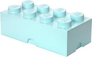 LEGO 40041742 Brique de rangement empilable 8 - Collection design, Plastique, Aqua bleu clair, 50 x 18 x 25 cm