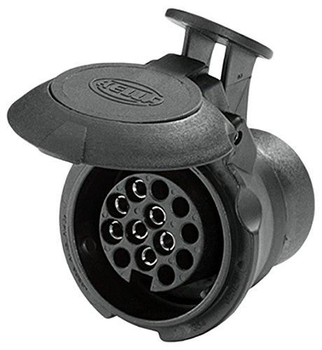 HELLA 8JA 008 969-011 Adapter für Steckdose, 57 mm Länge, von 7 auf 13 –polig, bei 12 V Belastung 16 A