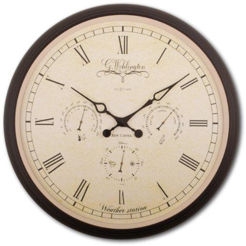 NeXtime Wanduhr WEHLINGTON Weather Station, rund, mit Thermometer, Barometer, Hygrometer ø 45 cm
