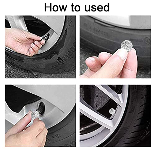 Car Wheel Tire Valve Caps, Valve Stem Caps, 4 Pack Handmade Crystal Rhinestone Car Stem Air Caps Cover, Attractive Dustproof Bling Car Accessories, Universal for Cars, SUVs and Motorcycles (White)