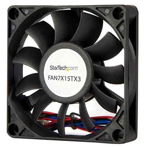 StarTech.com 70x15mm Replacement Ball Bearing Computer Case Fan w/ TX3 Connector - 3 pin case Fan - TX3 Fan - 70mm Fan (FAN7X15TX3), Black