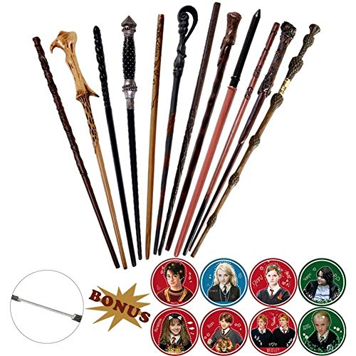 HUIJUNWENTI 19 Tipos de núcleo metálico Harri Varita de Voldemort Luna Draco Malfoy Snape Hermione Varita mágica Harri Prop Ninguna Caja de Embalaje ( Color : Dumbledore 2 )