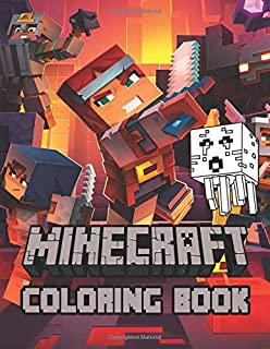 Minecraft Coloring Book: Ultimate Color Wonder Minecraft Coloring Book Pages & Markers, Mess Free Coloring, Wonderful Gift for Kids