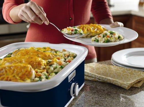 Crock-Pot SCCPCCM350-BL Manual Slow Cooker, Navy Blue