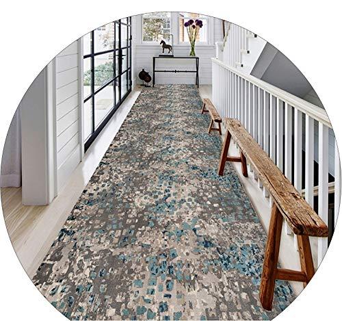 WUZMING-Tappeto Corridoio Passatoia Retro Antiscivolo Lungo Passatoia Corridoio Robusto Tappeti Stretti, Lunghezza Personalizzata (Color : Multi-Colored, Size : 60x350cm)