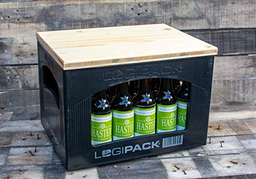 Bierkasten Sitzauflage Bierkisten Sitz aus Holz