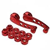Demiawaking 2 Pezzi Manovelle per Finestrini Auto in Lega di Alluminio Maniglia per Finestrino Manovella Alzacristalli Universale (Rosso)