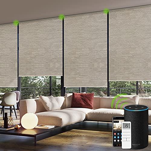 Yoolax persianas enrollables y estores eléctricas para la ventana con mando a...