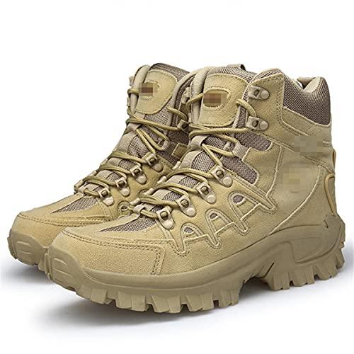 Botas militares de invierno de los hombres de las fuerzas especiales de cuero impermeable del desierto de combate táctico botas de nieve, Arenoso, 40 EU